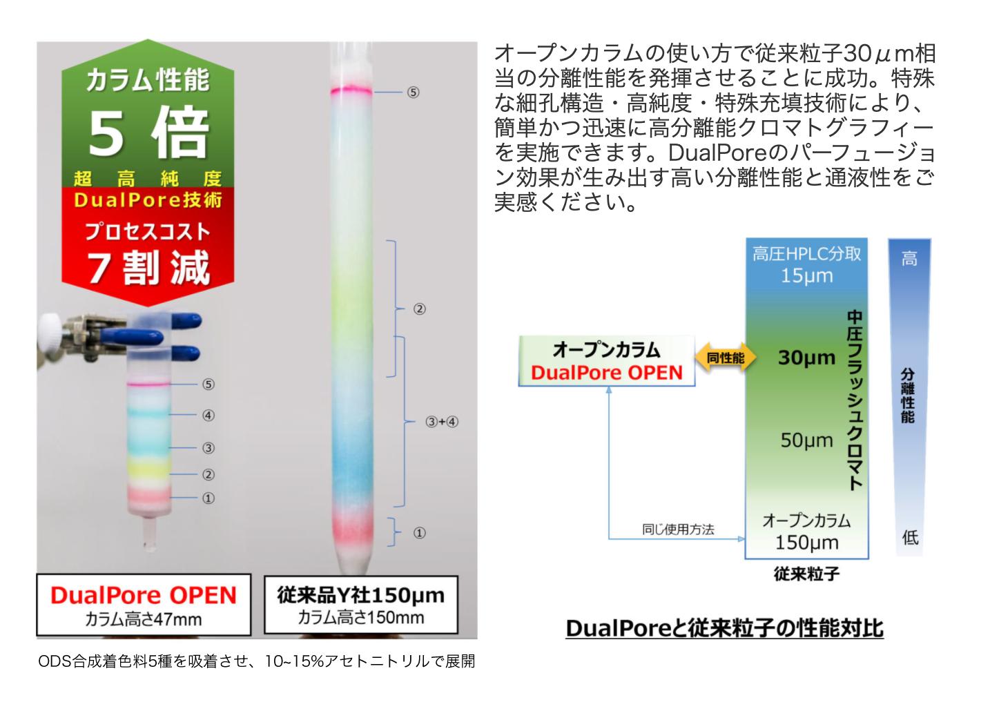 DualPore™ 中低圧Flashクロマトグラフィー用カラム